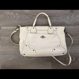 Coach Classic White Satchel Handbag